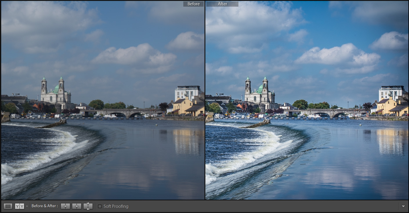how to close before after in lightroom